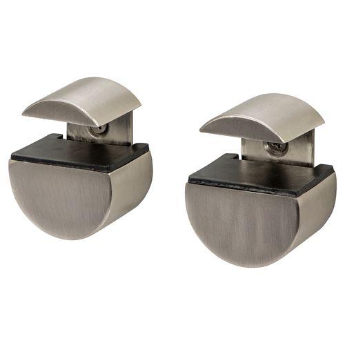 Support pour étagère Duraline Clip Circle mini nickel brossé
