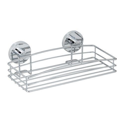Etagère de douche + pompe Vacuumloc Wenko simple chrome