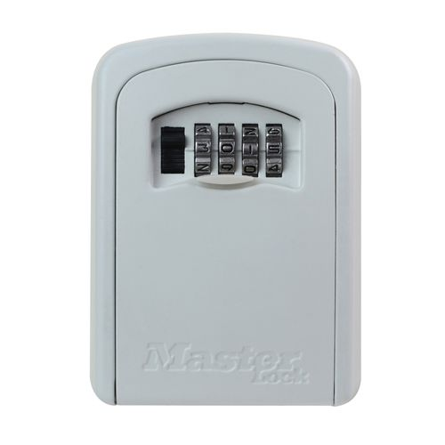 Mini coffre-fort Master Lock 'Select Acess' aluminium beige 83 x 118 x 34 mm