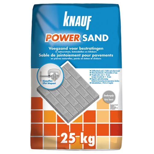 Sable de jointement Knauf Powersand gris foncé 25 kg