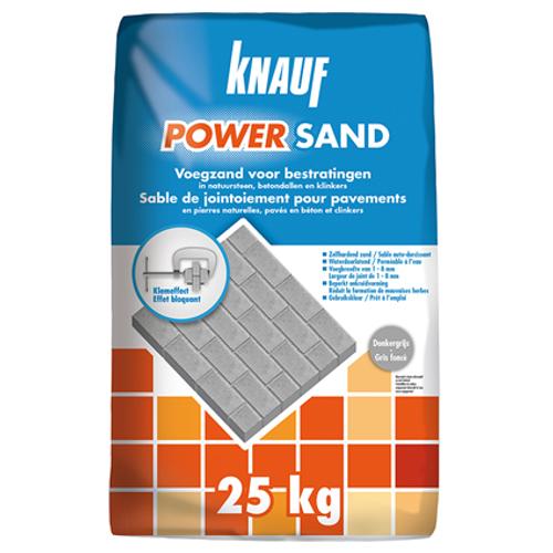 Knauf voegzand voor bestratingen Powersand donkergrijs 25 kg