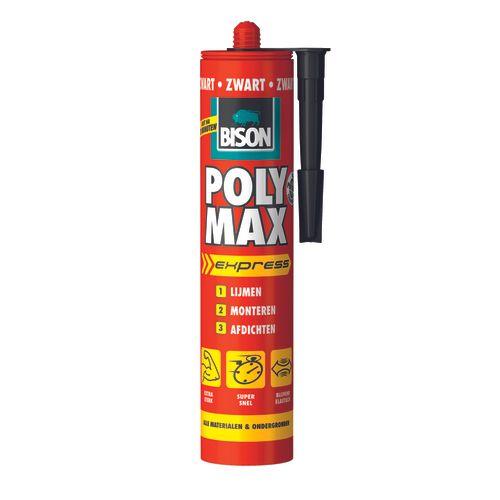 Bison universele montagelijm Poly Max Express Zwart 425g