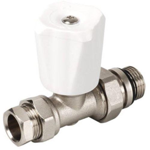 """Plieger radiatorkraan recht 15mm klemx1/2""""bu"""