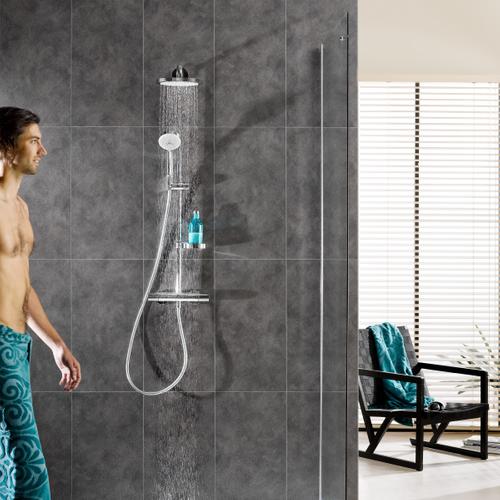 Dumaplast wandpaneel 'Dumawall+' PVC mystiek donker grijs 5mm