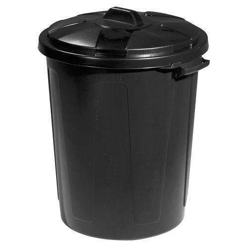 Keter straatvuilbak zwart 70L