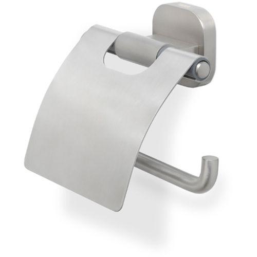 Porte-papier de toilette + couvercle Tiger Ramos argenté brossé à suspendre