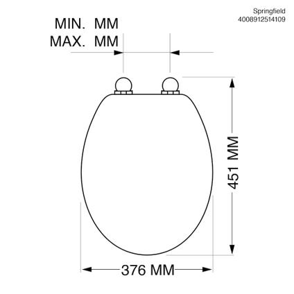 Tiger WC-bril 'Springfield' duroplast beige