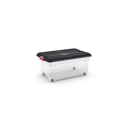 Boîte de rangement Kis 'Moover Box XS' transparent/noir 45L