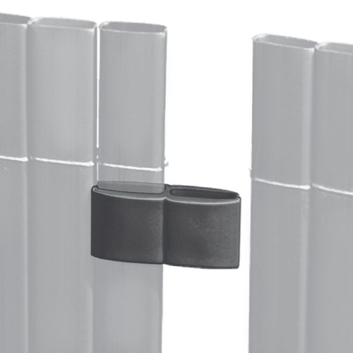 Videx schermverbinder voor balkonscherm antraciet 4 stuks