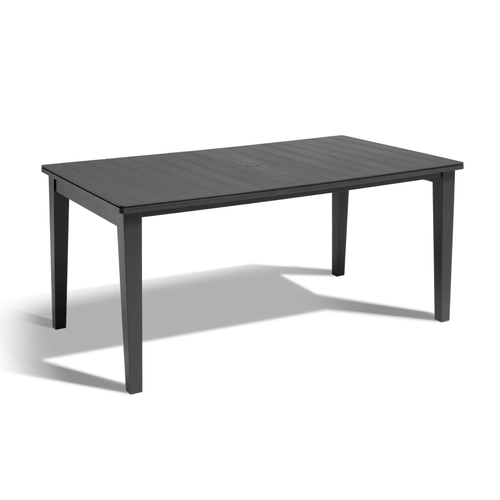 Table de jardin Allibert 'Futura' résine graphite 165 x 94 cm