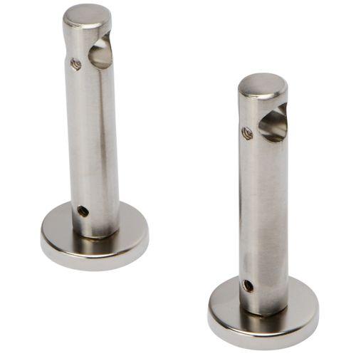 Decomode gordijnroede steunen enkel RVS 12mm - 2 stuks