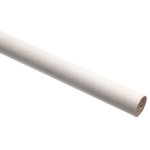 Decomode gordijnroede hout wit 160 cm x 20 mm