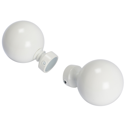 2 embouts bulb Decomode 'Elegance' off-white 20 mm