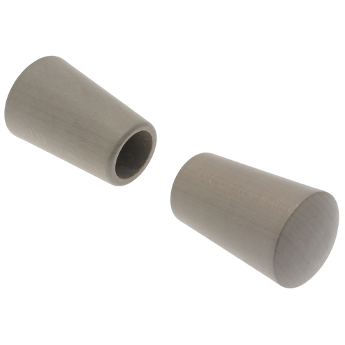 Decomode 2 eindknoppen saxo 'Nature' taupe hout 28 mm