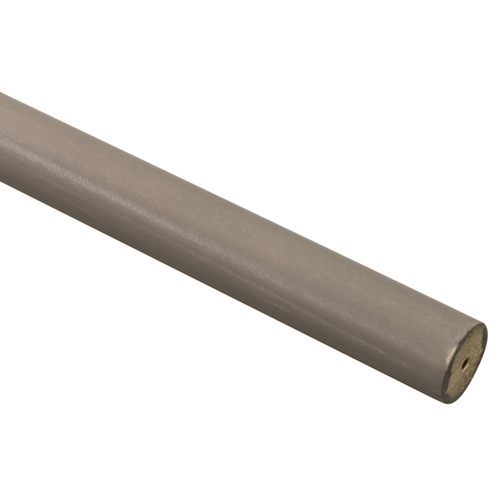 Decomode roede hout taupe 200 cm x 28 mm