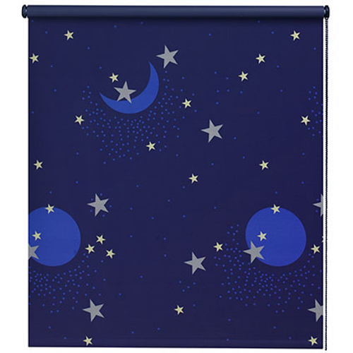 Store enrouleur Decomode 'Ciel étoilé' occultant bleu 60 x 190 cm