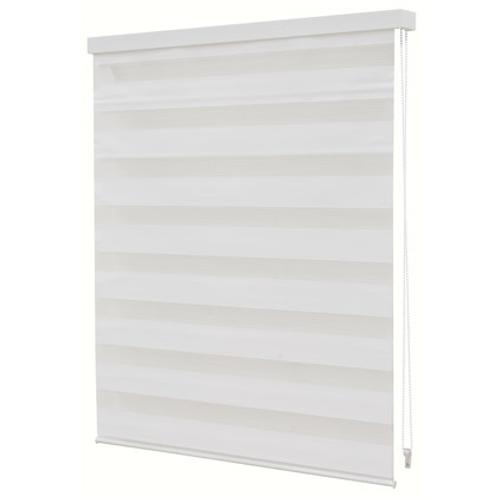 Store jalousie Decomode transparent uni blanc 90 x 160 cm
