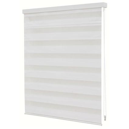 Store jalousie Decomode transparent uni blanc 120 x 160 cm