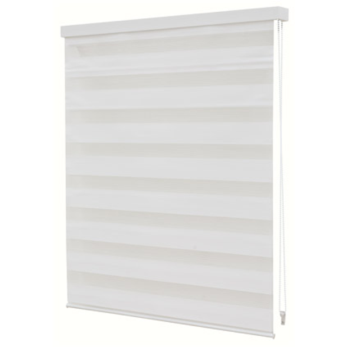 Store jalousie Decomode transparent uni blanc 120 x 160 cm