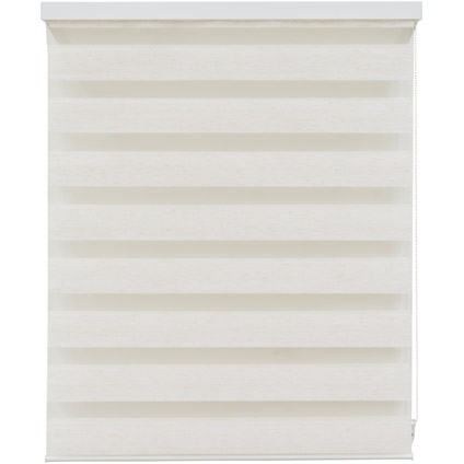Decomode roljaloezie lichtdoorlatend structuur gemeleerd linnen crème 90 x 160cm