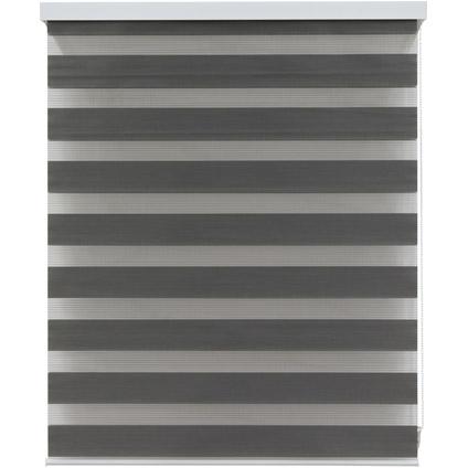 Store jalousie Decomode transparent uni gris foncé 90 x 160 cm