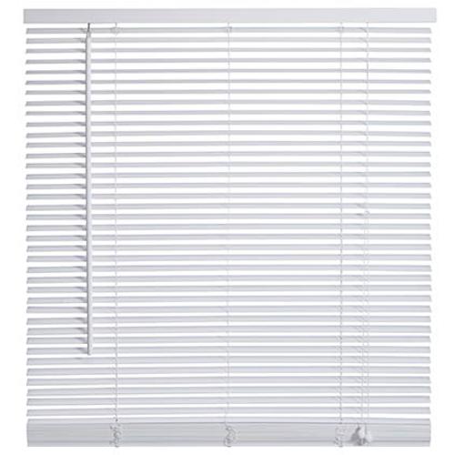 Store vénitien Decomode bois blanc 140 x 175 cm