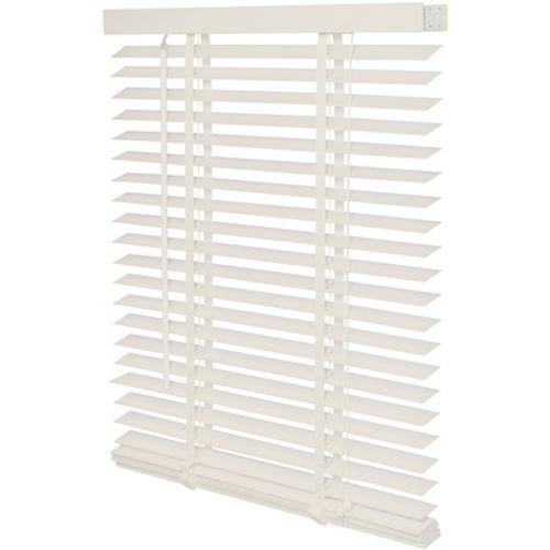 Decomode jaloezie hout 50mm kalk wit structuur 140 x 175cm