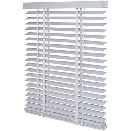 Decomode jaloezie hout 50mm structuur wit grijs 60 x 130cm
