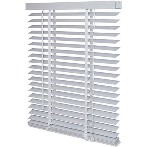 Decomode jaloezie hout 50mm structuur wit grijs 120 x 175cm
