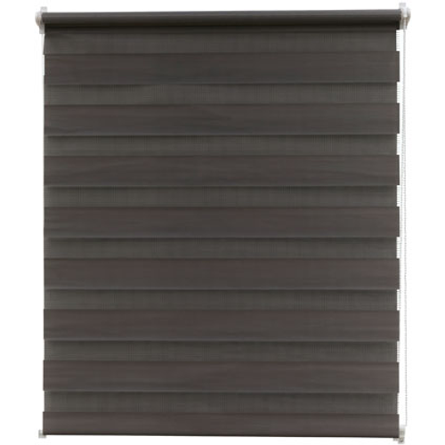 Intensions roljaloezie EasyFix gelijnd donkergrijs 55x170cm