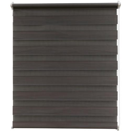 Intensions roljaloezie EasyFix gelijnd donkergrijs 75x170cm