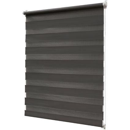 Store jalousie Intensions 'EasyFix' ligné gris foncé 75 x 170 cm