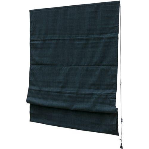 Decomode vouwgordijn lichtdoorlatend structuur donkerblauw 160 x 180cm
