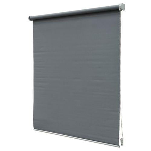 Intensions rolgordijn 'Luxe' verduisterend donkergrijs 100 x190 cm