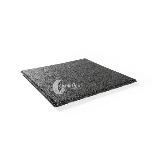 Decor rubberen tegel zwart 50 x 50cm 0,25m²
