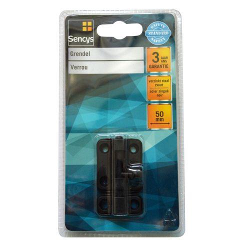 Sencys grendel zwart 50 mm