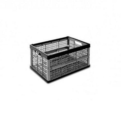 Kis plooibare opbergdoos Folding Crate zwart/grijs