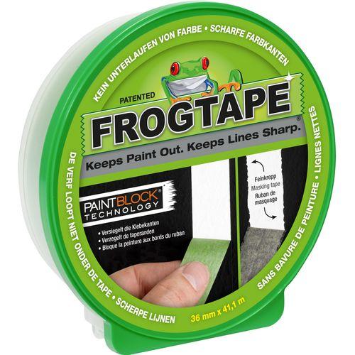 Ruban de peintre Frogtape Multi-Surface 41,1m x 36mm vert avec technologie PointBlock