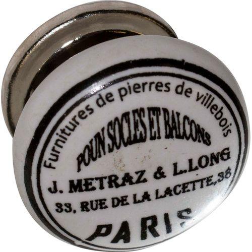 Bouton de porte Bertomani Linea porcelaine avec motif