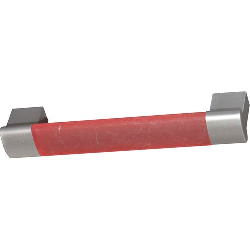 Poignée de meuble Bertomani Linea plastique rouge