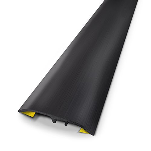 Seuil universel Dinac aluminium noir brossé 3,7 cm