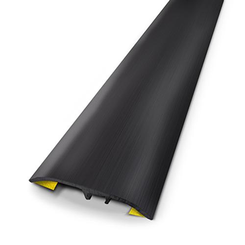 Dinac multifunctioneel profiel aluminium zwart geborsteld 3,7 cm