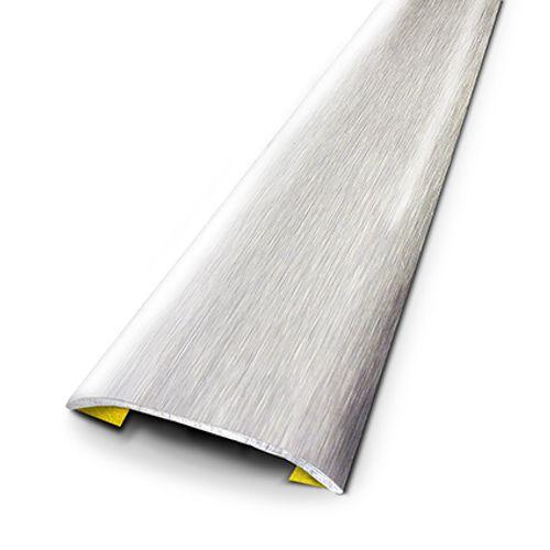 Seuil adhésif Dinac inox brossé 3,7 cm
