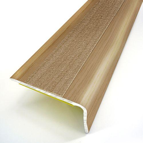 Nez de marche adhésif Dinac acier chêne 3,6 cm