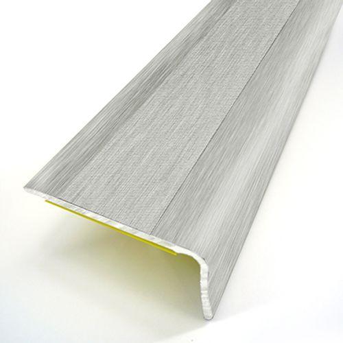 Nez de marche adhésif Dinac acier argenté 3,6 cm