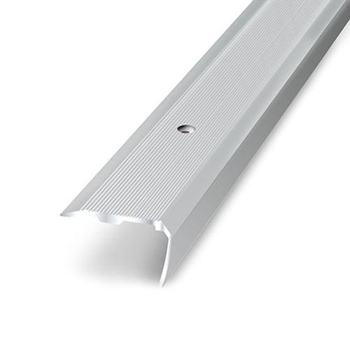 Nez de marche adhésif Dinac aluminium naturel 3,6 cm