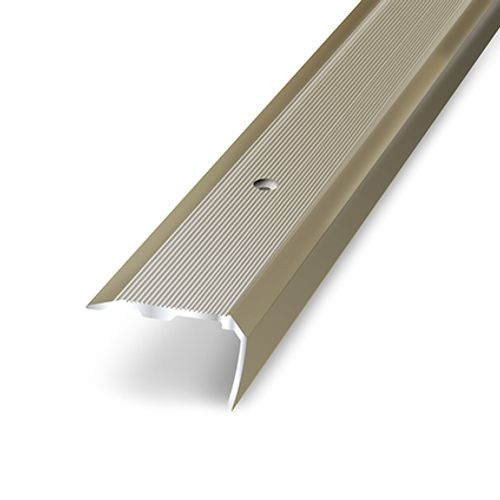 Nez de marche adhésif Dinac aluminium titanium 3,6 cm
