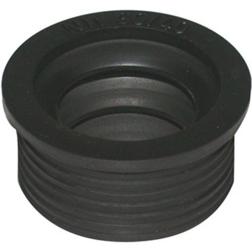 Sencys overgangsstuk rubber 40x32mm zwart