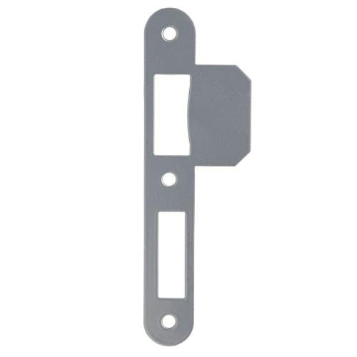 Gâche Sencys pour serrures 'M100/M400' acier peint gris 1 mm