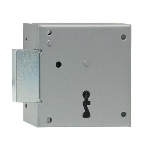 Serrure à appliquer horizontale main gauche Sencys 'M970' acier gris 40 mm
